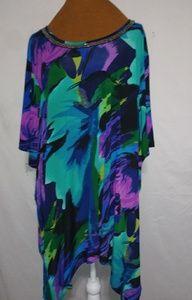 Maggie Barnes Purple Turquoise Top Sz 4X